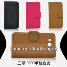 NEPPT Wholesale High Quality Stand Leather Flip Case for Samsung Galaxy S3 i9300