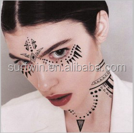 masquerade face eye tattoo sticker