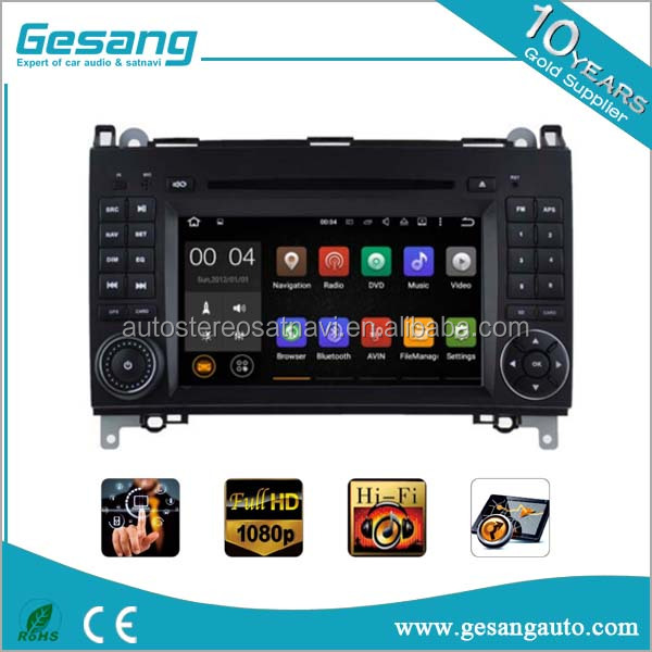 2 din car radio car navigation entertainment system Android 5.1 car dvd player for Mercedes-Benz B Class B-W245 (2005-2011)