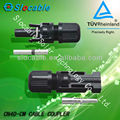 TUV approved ip67 mc4 male and female dc power connector