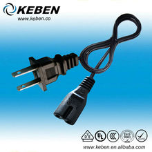 Industrial AC power cable american 125v 15a 2pins plug