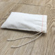 4X6 Inch Organic Natural Cotton Muslin Drawstring Bag For Leaf Tea Sachet