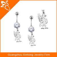 stainless stee fashions in jewelry steel animal belly ring fashion button navel rings