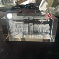 customizable 3D laser engraved building crystal block