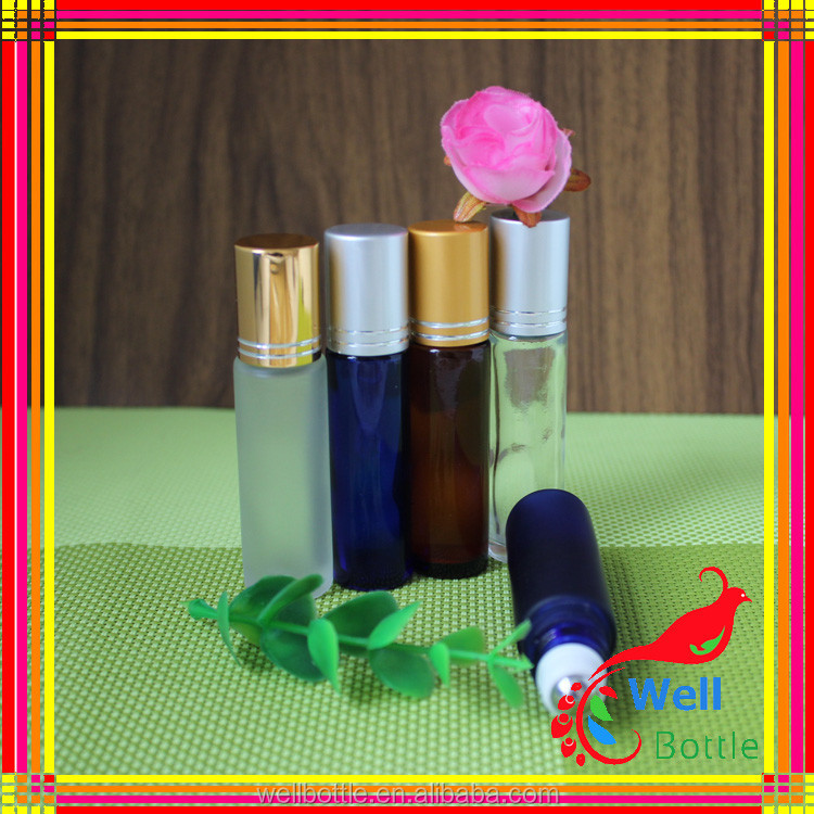 cosmetic glass bottle manufacturers Replacement Travel Empty Roll-on Glass Perfume Bottle Makeup Tool