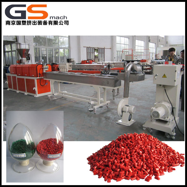 Extruder machine for making color plastic masterbatch
