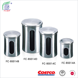 China stainless steel Airtight Coffee Container Storage Canister Set for Coffee Beans