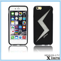 Flash Design TPU Cell Phone Screen Protector Back Cover Case For Iphone 6