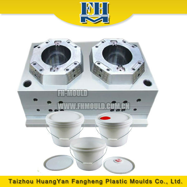 Round plastic paint bucket mold/mould