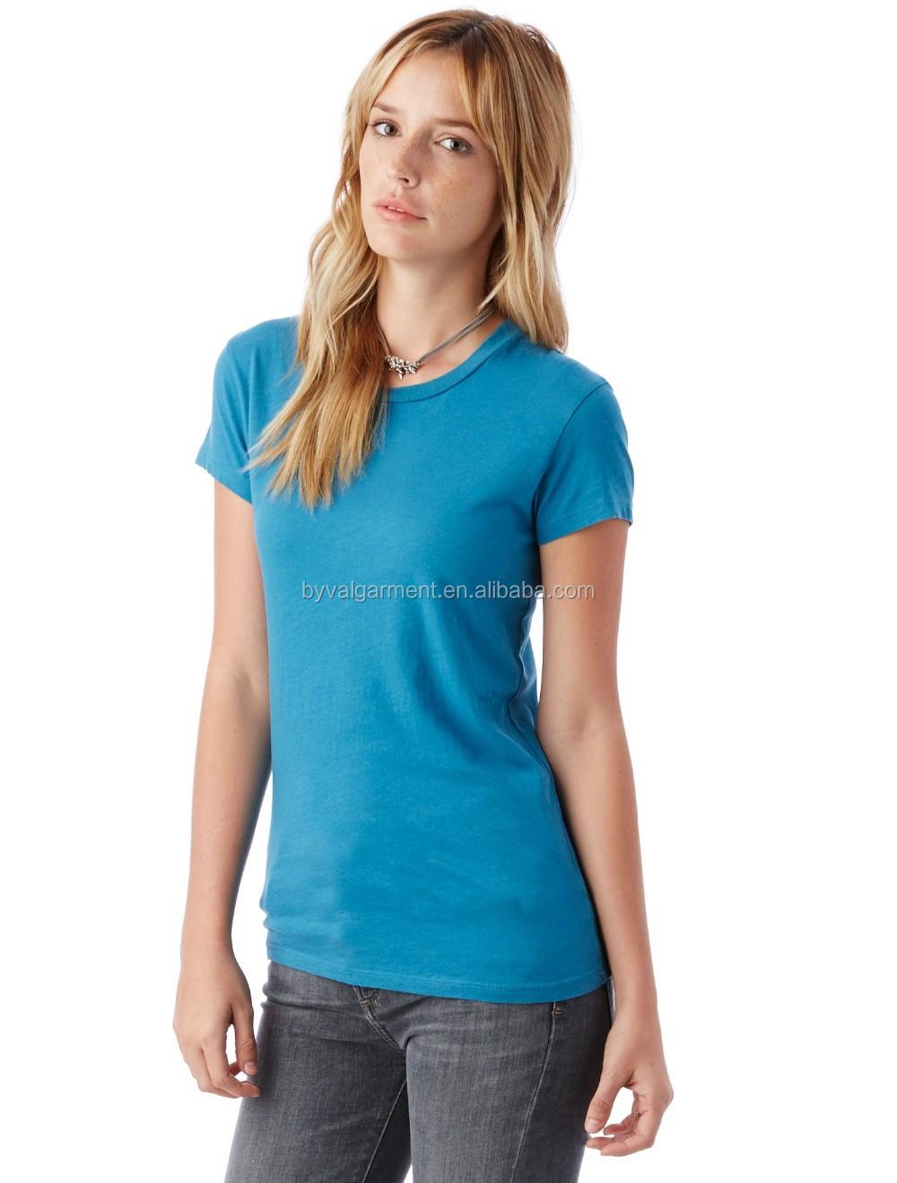100% organic cotton Bulk plain t-shirts for women (7).jpg