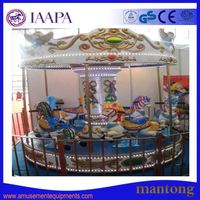 Attractive Kiddie Ride Coin Operated Carousel Amusement Arcade Ride