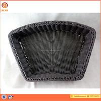 100% hand weaving display rattan baskets for shelf