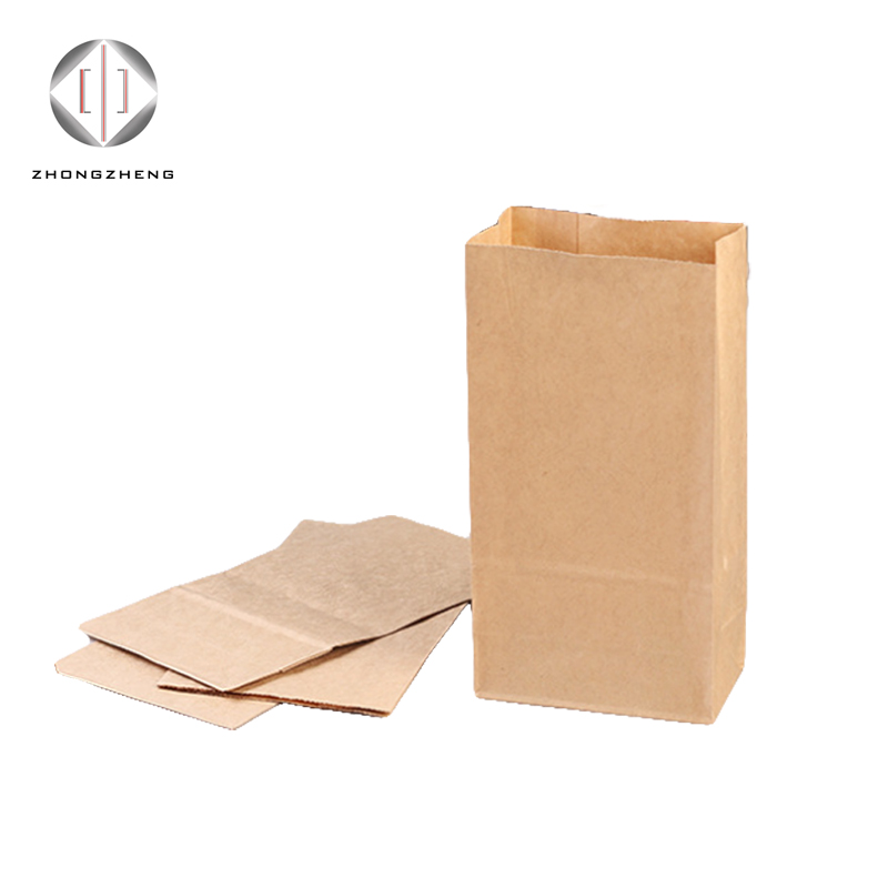 Chinese Supplier New Arrived wholesale recycle no handle brown strong plain Grocery kraft paper bag
