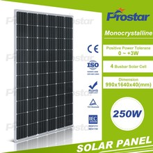Competitive price 24v mono 250w solar photovolatic panels for solar home system