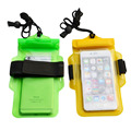waterproof outdoor beach bag for cellphone with armbrand and lanyard