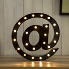 AT marquee light free standing metal sign led lighting alphabet letter