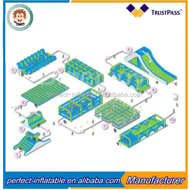 Hot selling 5K Insane Inflatable Obstacle Course For Running Race