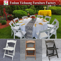 Popular white folding outdoor plastic garden chair for wedding YC-P54