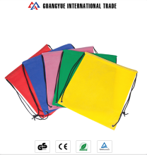 Guangyue Promotional Custom Design Colourful Cheap Small Non Woven Drawstring Bag