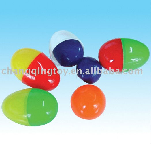 bouncy putty in colorful eggs