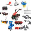 multi-function two wheel walking tractor - rear tine tiller -cultivating machine