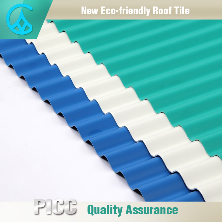 Advanced Materials Warehouse Lightweight PVC Wavy Roof Tile