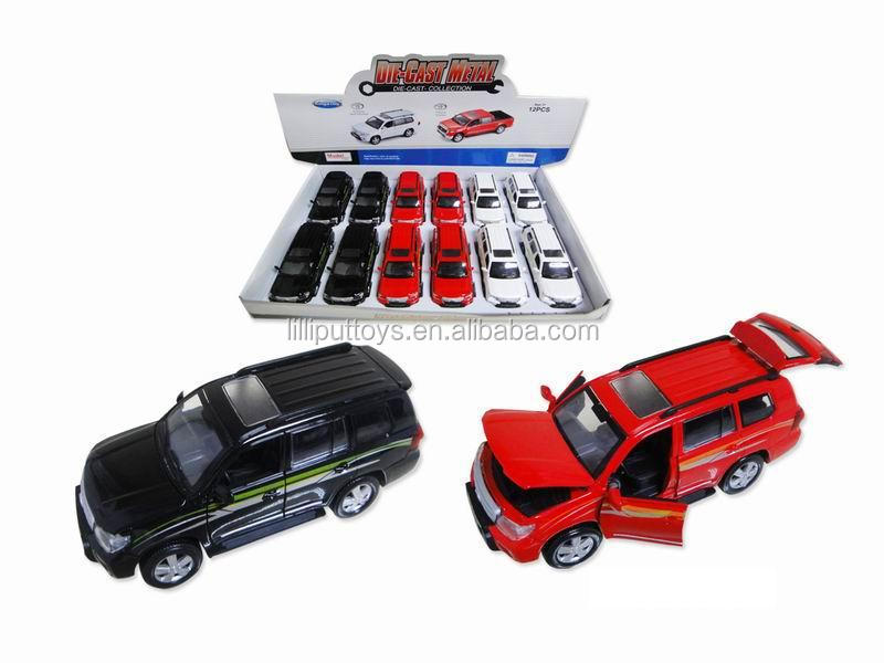1:32 Licensed Die cast metal pull back toy car with IC light, sound and open door
