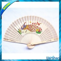 Wenshan Chinese style peacock printed luxurious hand fan