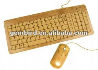 EG-KBM-001 Bamboo USB keyboard and mouse set