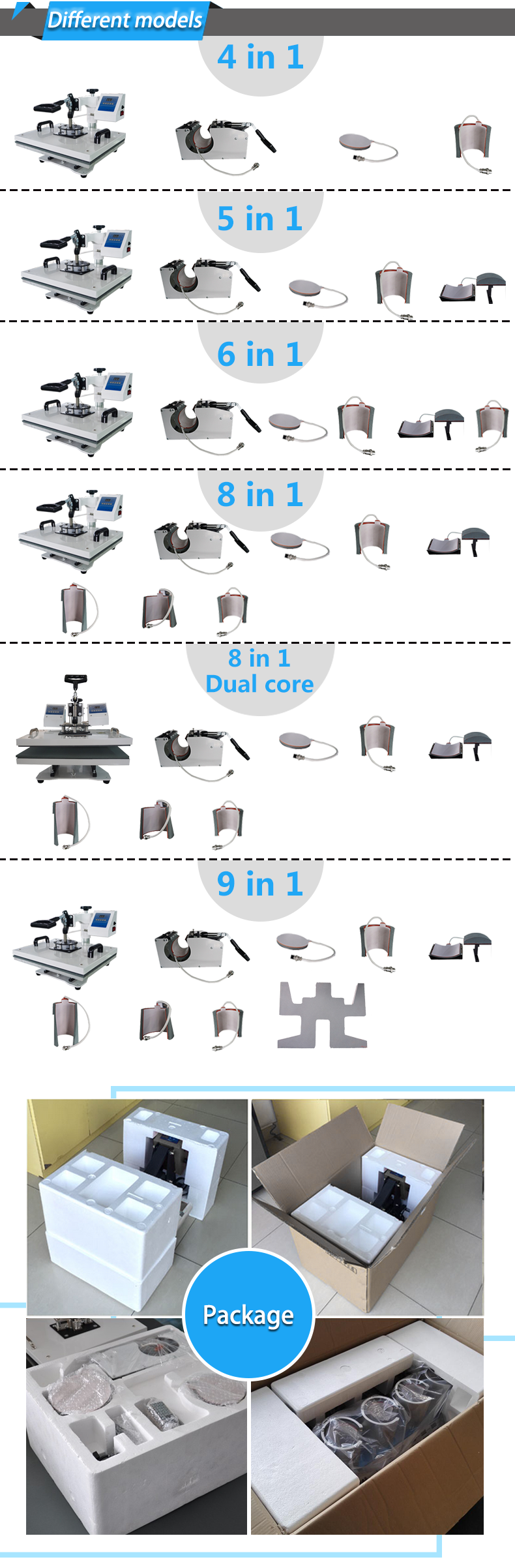 8 In 1 combo Heat Press Printing Machine