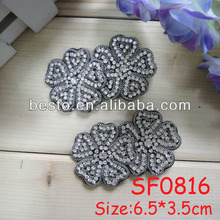 SF 0816 wholesale fashion bridal crystal flower rhinestone applique