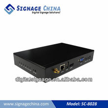 SC-8028 Digital Signage Networked Media Player with Hard Drive and Play-list creation and management