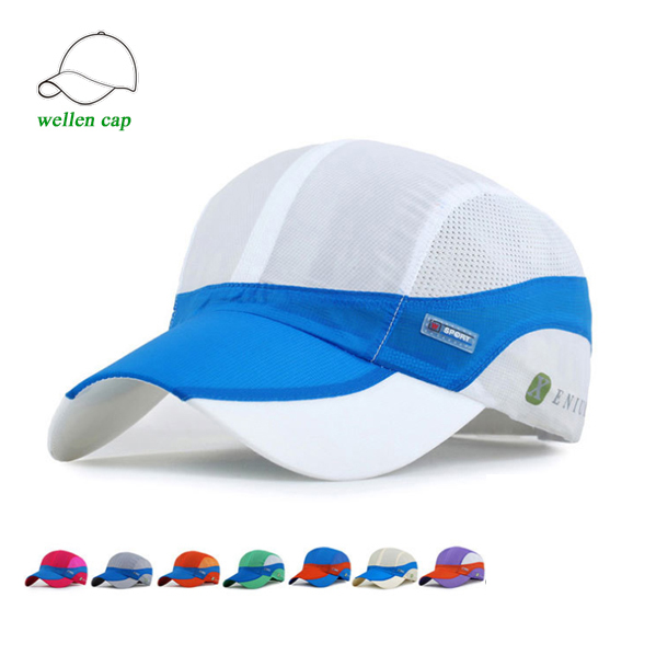 Summer mesh snapback waterproof running hat dry fit <strong>cap</strong>