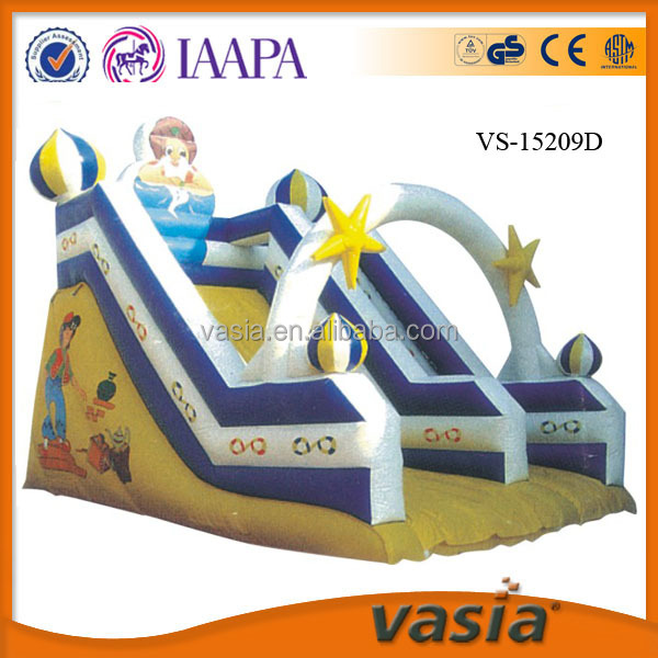 Hot selling pvc kids jumping outdoor inflatable bouncer with slide