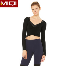 Latest design women fitness workout yoga wear long sleeves for sports active wear wholesale