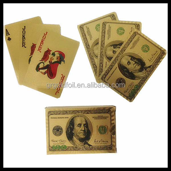 High quality 24k gold playing cards custom gold playing cards