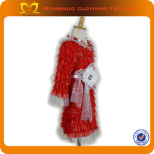 Latest Dress Designs For Kids Red Color Christmas New Style Products Girls Princess Dress