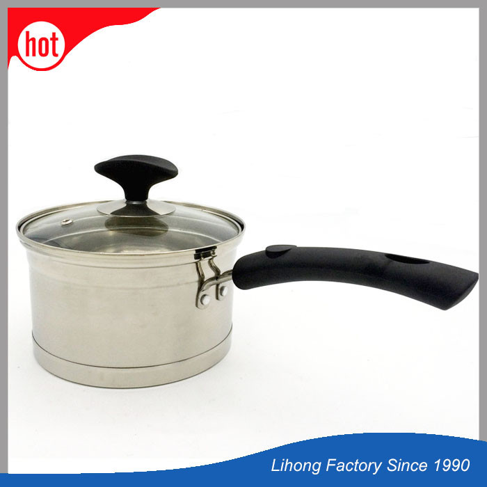 Double Bottom Non Stick Metal Milk Cooking Pot