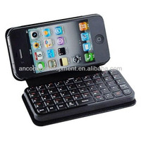 WIRELESS LEATHER BLUE TOOTH KEYBOARD FOR I PHONE 4/4S