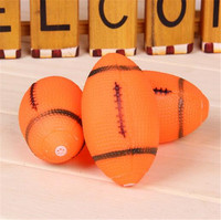 Newest squeaky football shaped soft pet vinyl toy