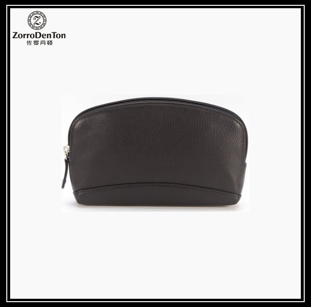 high grade real leather/pu/pvc travel cosmetic collection clutch bag zipper bags