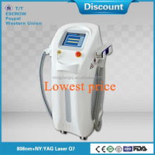 2015 hot-selling 2 in 1 vertical spa use high power laser 1064 nm&808nm hair removal machine