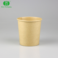 Custom printed disposable hot soup bowls kraft paper soup cup