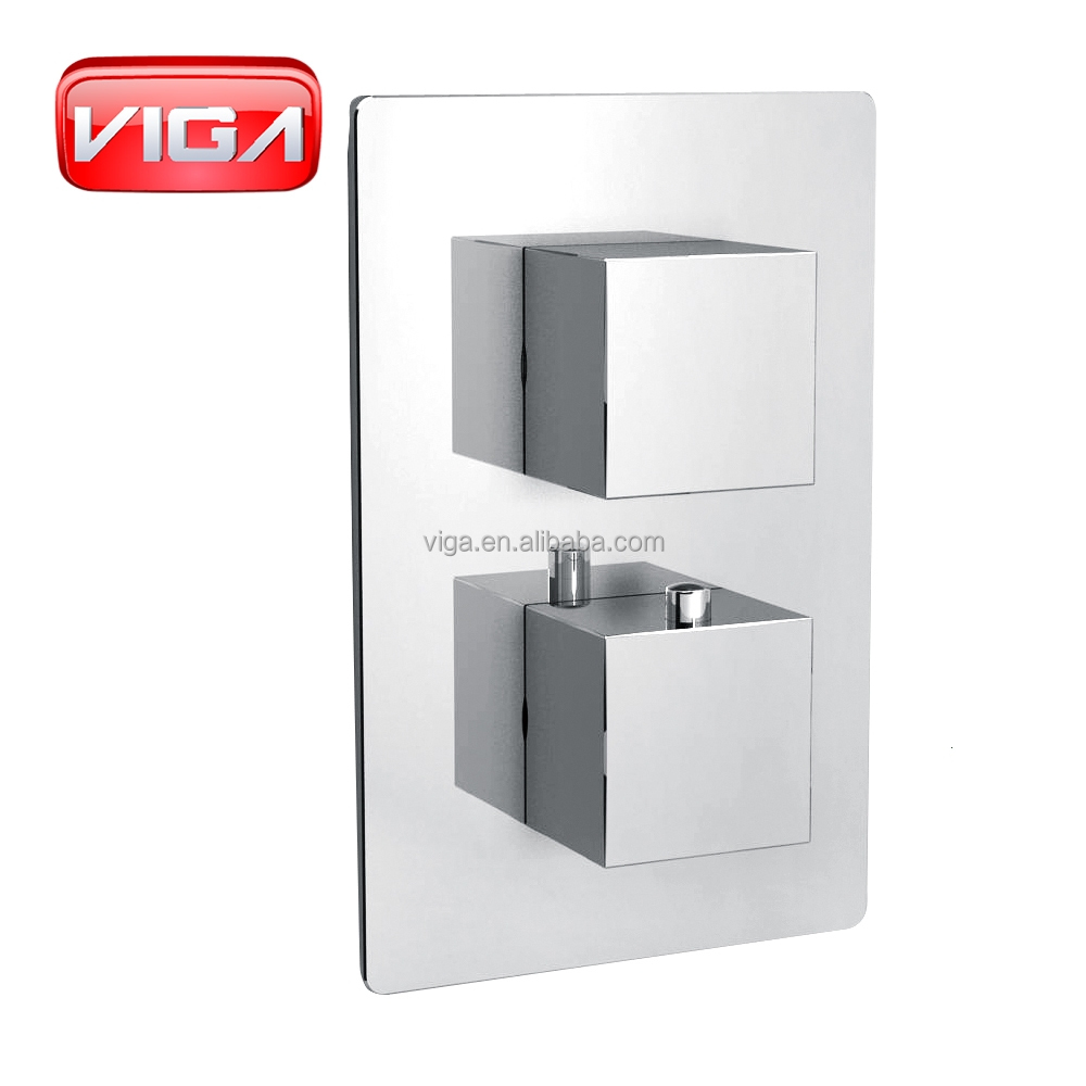 Concealed shower set two functions shower thermostatic valve