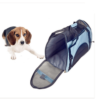 Portable Fashion 600D polyester Messenger pet dog carrier bag with shoulder strap