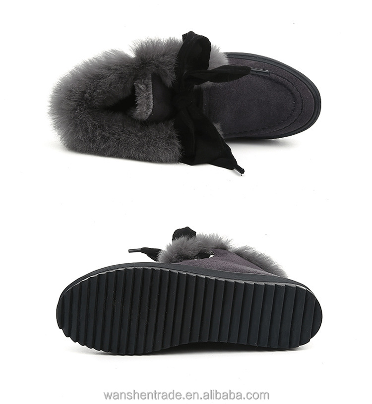 Winter Snow Boots Women Fashion Bowknot Boots for Women Winter Flat Shoes Women