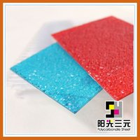 Polycarbonate embossed sheet,PC solid sheet,blue dimond