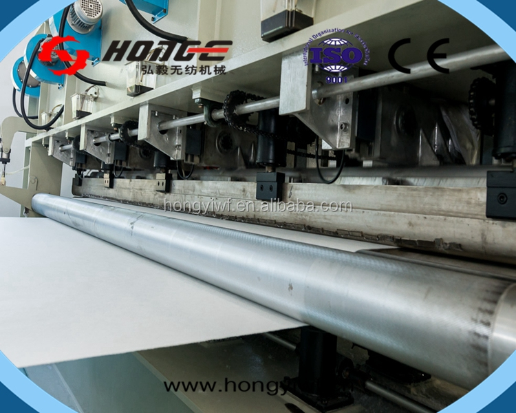HY - ISO9001CE changshu high speed nonwoven needle punch geotextile machinery for building road