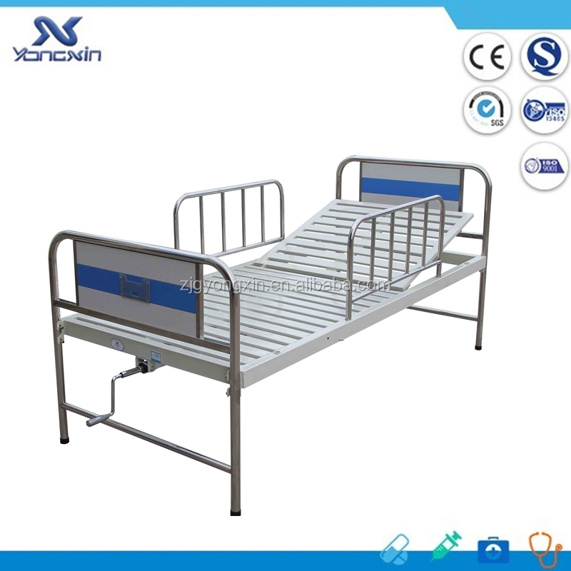 cheap old one crank hospital beds for sale(YXZ-C-063)