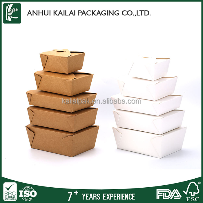 Food Paper Box,Recycled Paper Materials Take Away Box